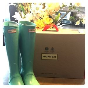 HUNTER Original Tiffany Blue Tall Boots
